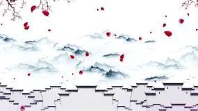 【AE模板】徽派建筑水墨山水动画AE模板