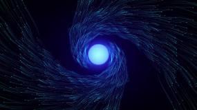 蓝色抽象流动粒子视频素材