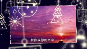 圣诞节日图文展示AE模板