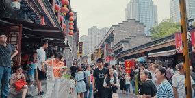 天津之眼古文化街旅游第一视角超长视频视频素材