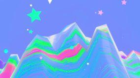 抽象山脉穿梭舞台动画视频视频素材
