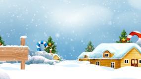 圣诞节雪山穿梭视频素材