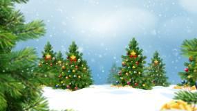 圣诞节雪山圣诞树视频素材