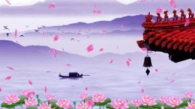 水墨中国风舞台背景视频素材