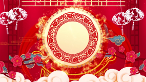 红色喜庆灯笼锣鼓新年春节晚会led视频视频素材