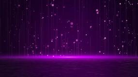 紫光粒子湖视频素材