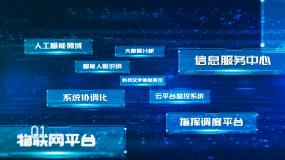 科技多文字字幕穿梭AE模板