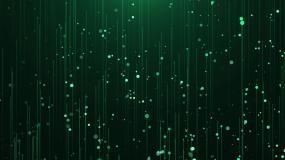 飞升绿色粒子视频素材