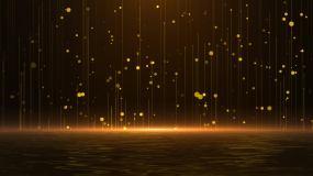 金色粒子湖视频素材