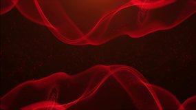红色粒子光网视频素材