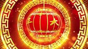 4K牛年大吉大红灯笼开场春节背景视频素材