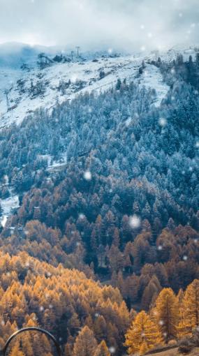 唯美雪山雪景视频视频素材包