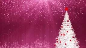 唯美圣诞树粒子雪花视频素材