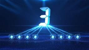 201蓝色科技感启动仪式AE模板