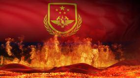 中国消防救援舞台背景(循环)视频素材