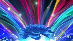 原创可商用4K蓝紫色舞台背景循环40秒视频素材