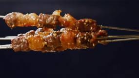 各种烤串美食拍摄视频素材