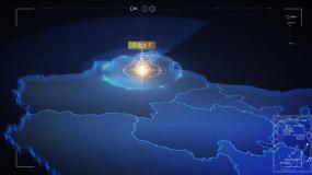 新疆乌鲁木齐科技中国科技地图地图AE模板