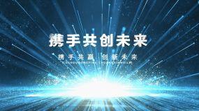 蓝色科技发布片头AE模板