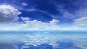 天空之镜海天一色背景视频4K视频素材