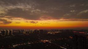 大气磅礴火烧云夕阳视频素材