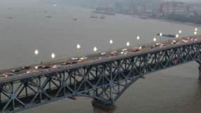 南京长江大桥视频素材