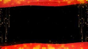 循环红绸边框1视频素材