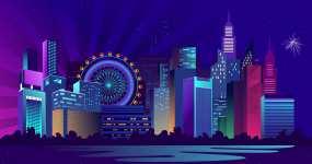 大都市夜生活未来城市视频素材