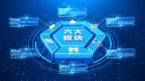 E3D科技六大分类图文AE模板