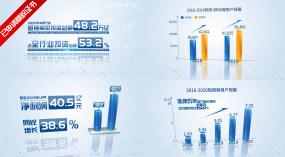 企业科技简洁三维数据图表AE模板