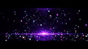 4K紫色绚丽舞台粒子闪烁背景视频素材