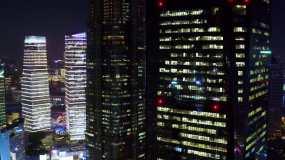 4K城市夜景航拍视频素材