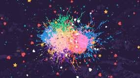 爆炸粒子创意庆典商业推广童趣背景视频视频素材