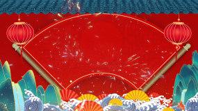 红色喜庆跨年烟花晚会背景视频视频素材