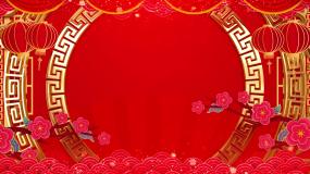 喜庆牛年春节跨年晚会节目表演背景视频视频素材