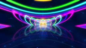 七彩霓虹皇冠隧道无缝循环视频素材