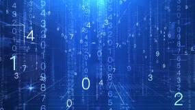 科技数字雨背景视频素材