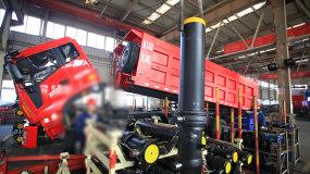 自卸车液压油缸安装视频素材包