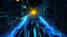科技隧道穿梭视频素材