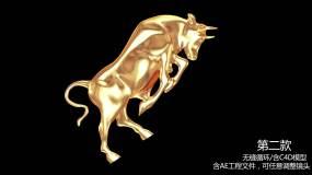 2021五款金牛动画(背景透明)视频素材包