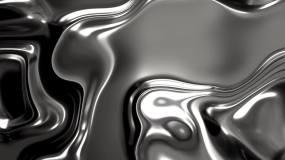 抽象质感金属液流体水墨视频素材
