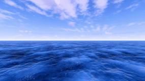 超高清大海蓝天白云视频素材