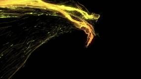 涡旋粒子单个03-s视频素材