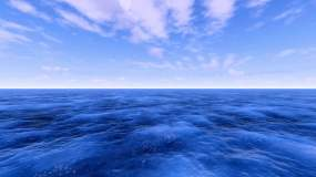 4K大海蓝天白云视频素材