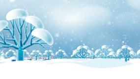 圣诞节雪景视频素材