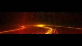 红色粒子颁奖无缝循环背景【4K超长屏】视频素材包