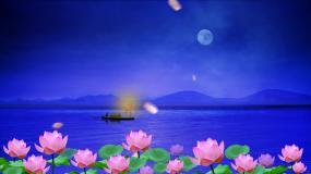 渔舟唱晚舞台背景(主屏)视频素材