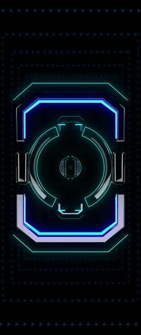 天幕蓝色空间穿梭视频素材