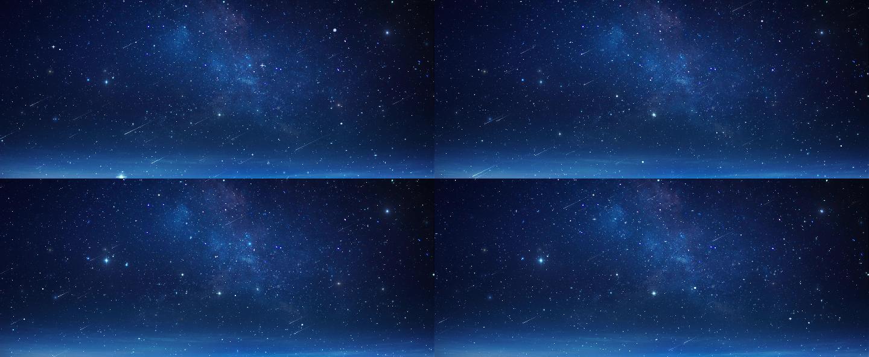 藍色銀河流星星空循環