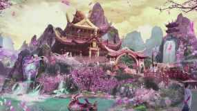 4K浪漫唯美三维古风动画背景视频素材